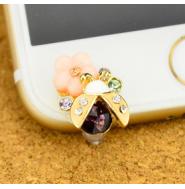 てんとう虫型 iPhone6/6s/5/5s/6plus/6splus用 イヤホン防塵栓 イヤホンジャック