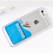 韓国風 iPhone5/5s/6/6s/6plus/6splus保護ケース 液体アイフォーンケース ドラえもん アイフォーン保護ケース