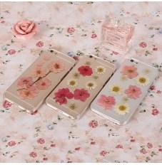 iPhone6 iPhone6plus iphone 5/5s 高硬度カバー 保護ケース 華やかなお花付き 透明カバー