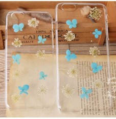 iPhone6/6plus保護ケース スマホカバー 花びら使用 硬いタイプ・柔らかいタイプ 両方あり