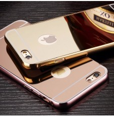 iphone6s/6プラス メッキ鏡+金属 保護カバー