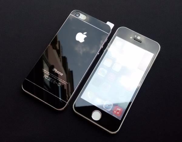 《国内発送》iphone5&5S,se9H強化ガラスフィルム前後完保護0.2MM(黒)