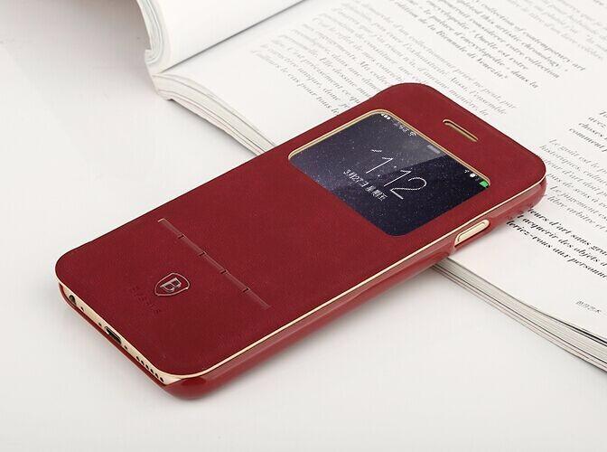 <国内発送送料無>iPhone6plus/ 6Splus用手帳型本革レザーケース閉じたまま受話