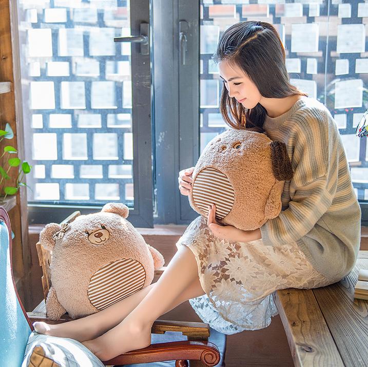 掛け布団を収納できる可愛い抱き枕 クマ・ウサギ・イヌ-1