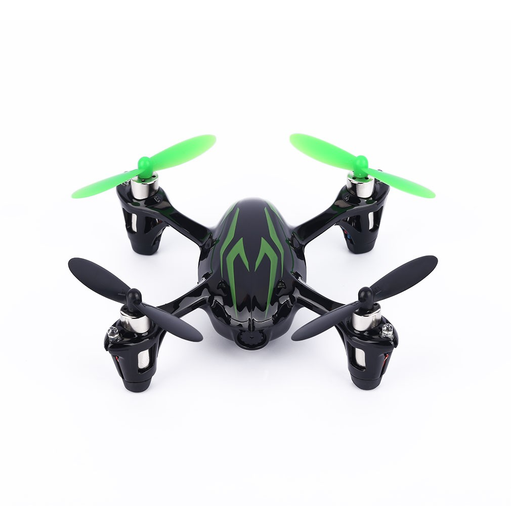 SAITU【Hubsan H107C FPV X4】ラジコンヘリ(ブラックグリーン) ドローン ラジコン飛行機 2.4G 4CH 右手アクセル 2MPカメラ-1