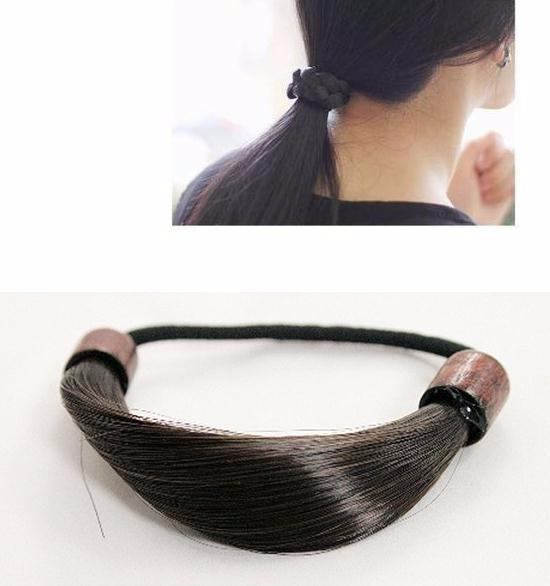 ヘアゴム 結び目をオシャレに隠せる 上品な後姿「ヘアアクセサリー 髪飾り 簡単ヘアアレンジ」-1