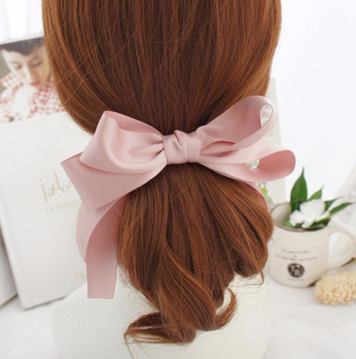 バレッタ アンティーク風 可愛い小さなリボンモチーフ バンスクリップ 「ヘアアクセサリー 髪飾り 簡単ヘアアレンジ」-1