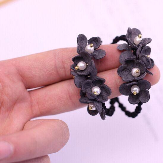 ヘアゴム ジルコン金具付き小花ヘアゴム ヘアアクセサリー ヘアポニー 上品ヘアゴム 2種類ヘアゴム