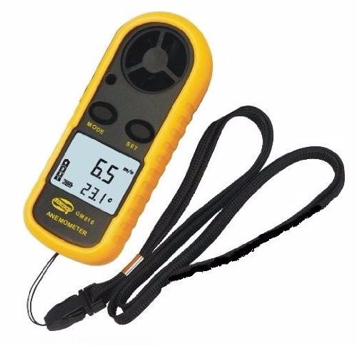 <国内発送送料無>デジタル 風速計 簡単・手軽 風速計測 温度計搭載 軽量コンパクト ポケットアネモメーター(風速計&温度計)-1