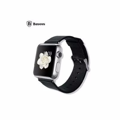 【正規品】Apple Watch 42mm用 本革 高級時計ベルト(黒)