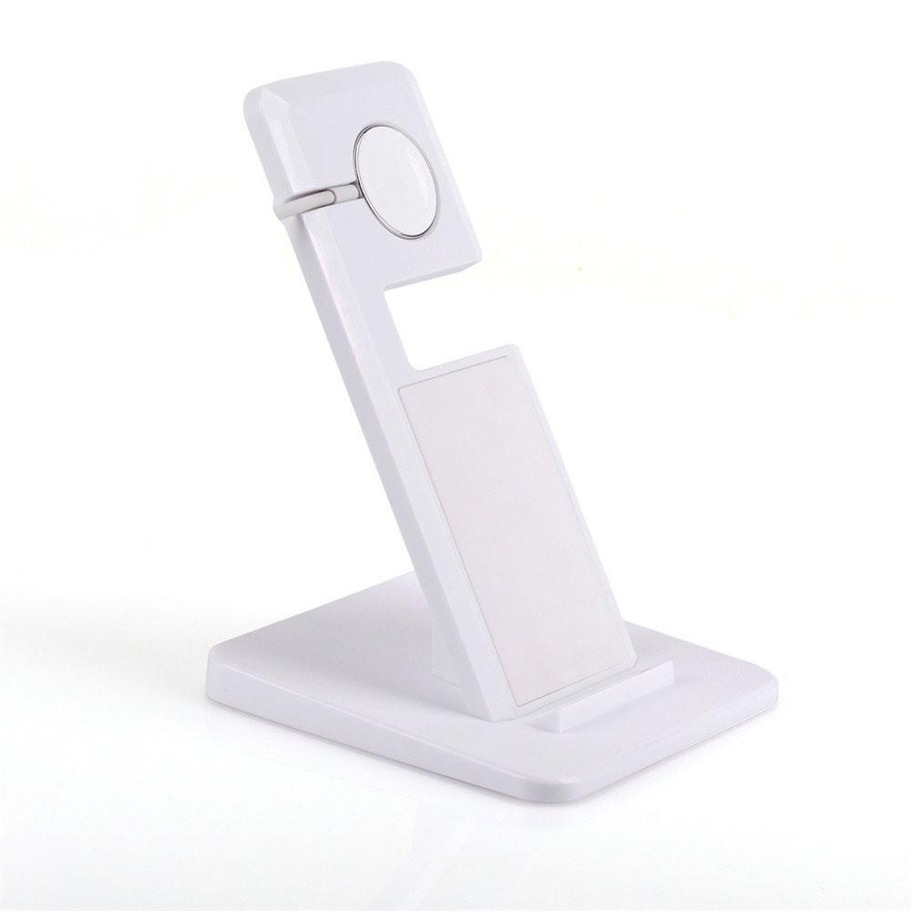 A11 iphone/watch/ipad用 スタント式充電器 スマートフォン三脚 「Qi」準拠ワイヤレスチャージャー USB充電パッド 置くだけ充電-1