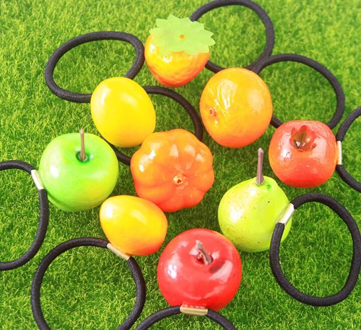 3D果物モチーフ 可愛い ヘアゴム