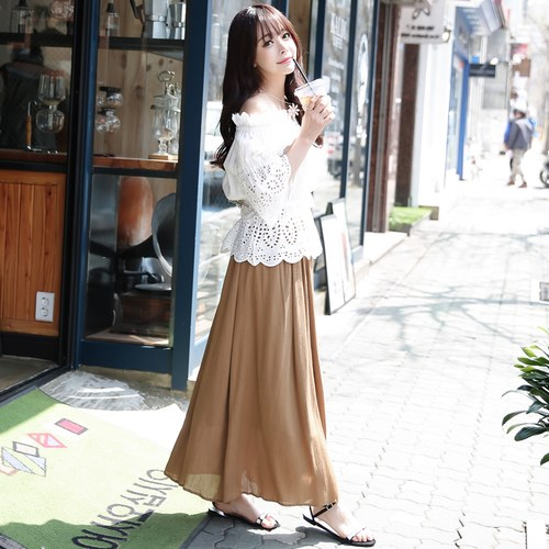 襟スリム甘いワンピースのスカート-1