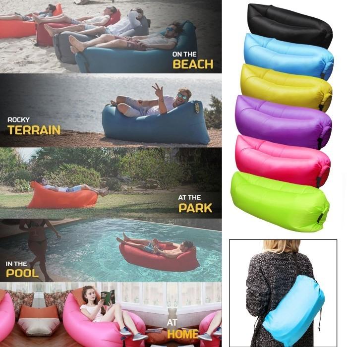 エアーソファベッド インフレータブルデッキチェア ビーチラウンジチェア ポータブル アウトドア キャンプ 海 日光浴 旅行 ピクニック プール