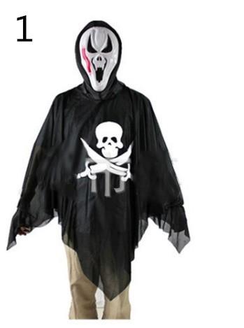 ♪ハロウィン仮装舞踏会 【マスクと服】悪魔コスプレセット 怖い鬼モチーフのコスチューム