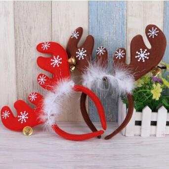 【2016クリスマス】鹿の角モチーフのカチューシャ ベル付き