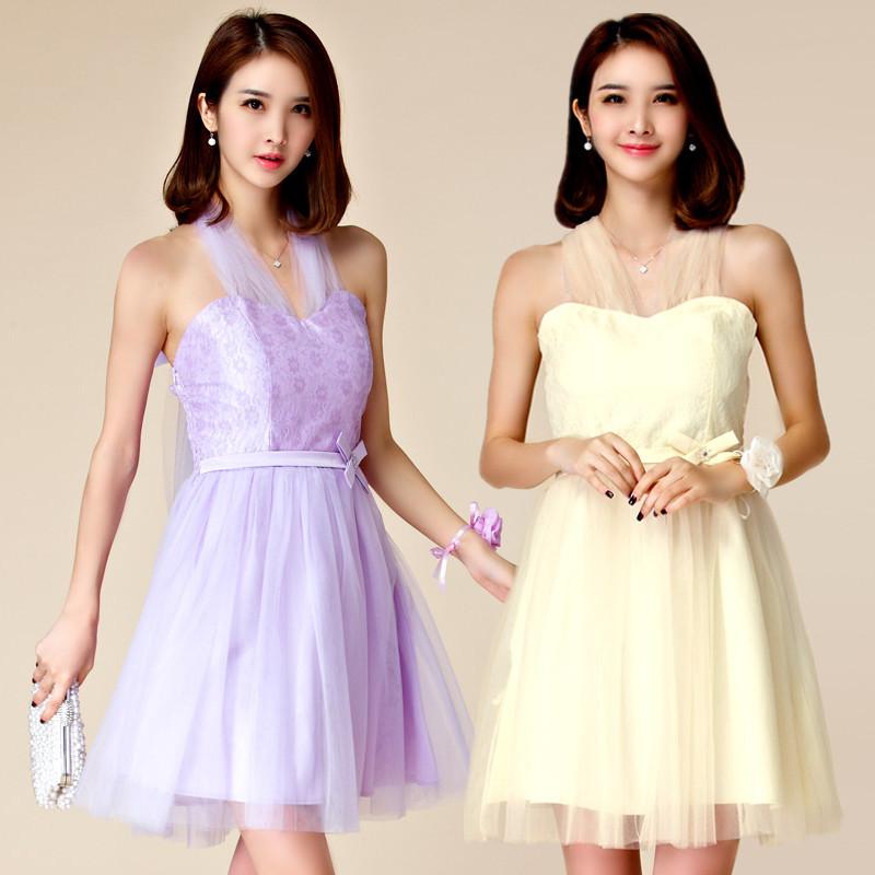 大きいサイズ ミニドレス 結婚式、パーティードレス フォーマル☆ F LL 3L 4L J9873 ドレス レース切替 披露宴、謝恩会、二次会、お呼ばれ 上品やわらかな party dress