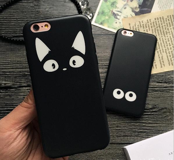 iphone用保護ケース】  可愛い猫    ネコカバー 磨き砂面