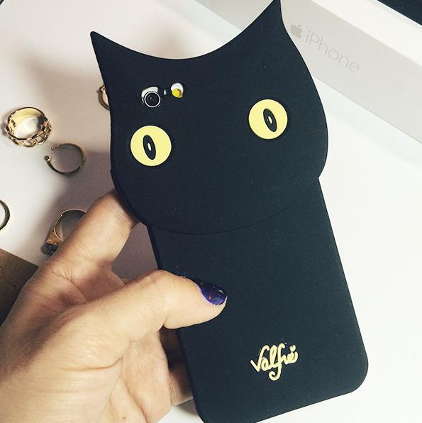 【iphone用保護ケース】   かっこいい猫 カバー   シリカゲル-1