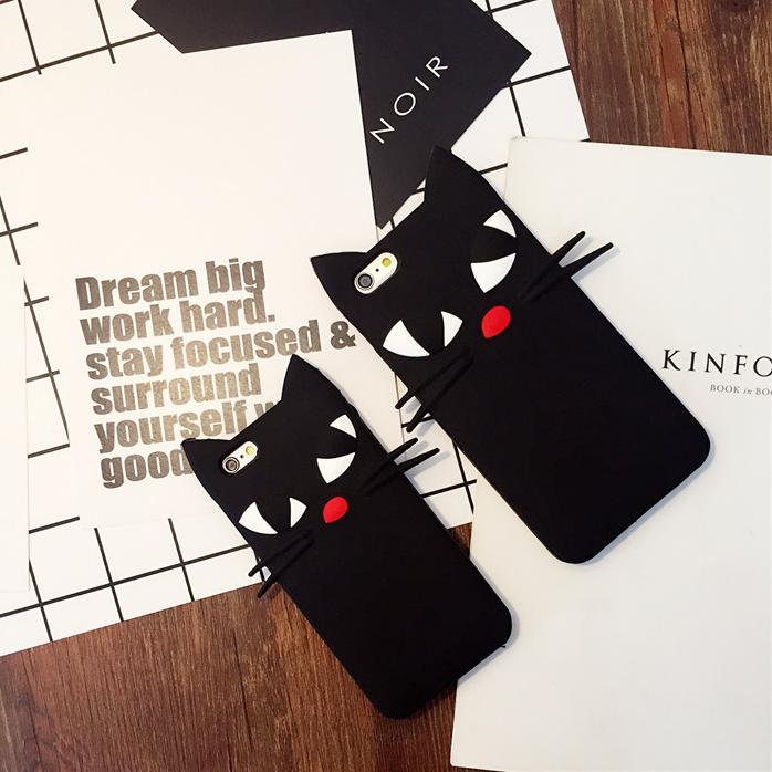 【iphone用保護ケース】  かわいい猫  カバー シリカゲル-1