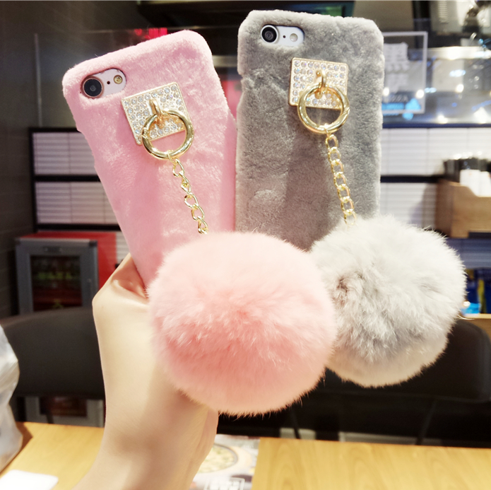 【iphone用保護ケース】  大人可愛い 毛玉 ふわふわ 柔らか 5色