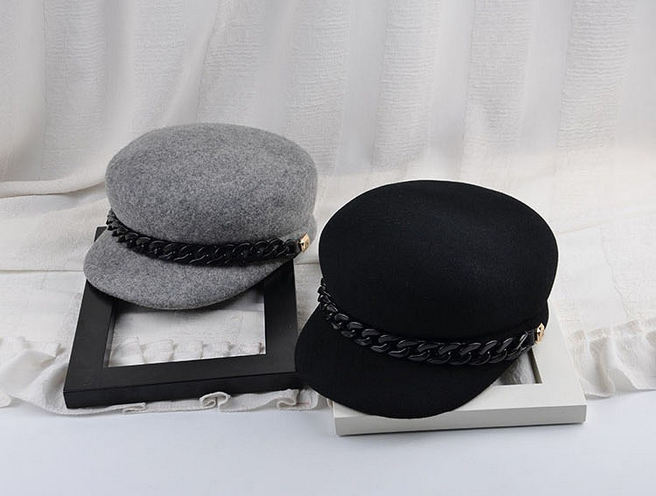 帽子●ブラック/グレー2色○gtb0312-7gd【2017春夏商品】