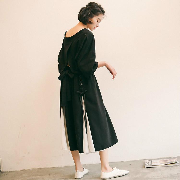 復古する優雅でゆったりするスリム効果のレースアップのシフォンのスカート