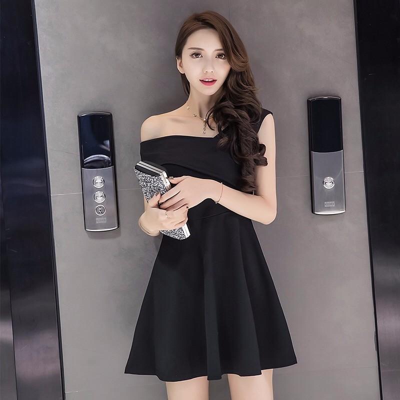 2017夏新作二種類着法ヘプバーン風小黑裙気質小黑裙