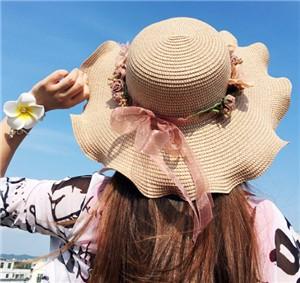 ★2017夏新作★手作り帽子 夏にぴったり つば広 2色-1