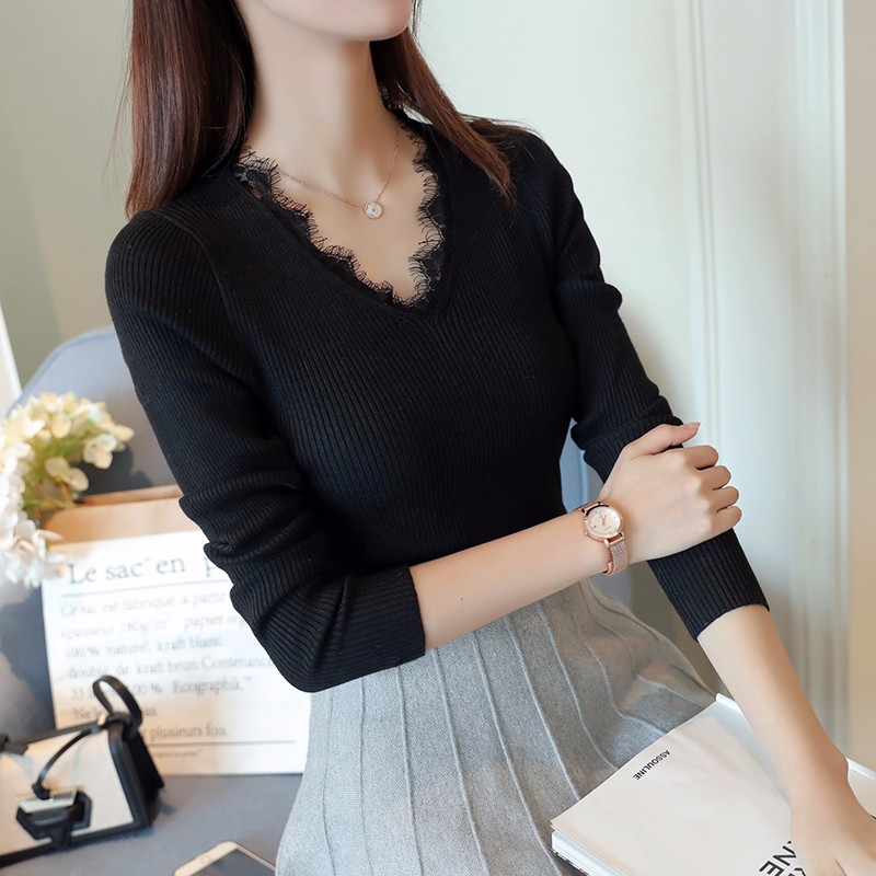 ファッションレディースシンプル可愛いセーター洋服ニット