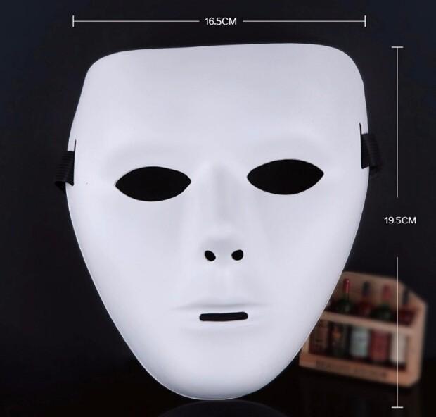 ★ハロウィーン★仮面 仮装パーティー シンプル 真っ白 夜光