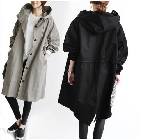 2017秋服のコートに新型ゆったり英倫ロングコート