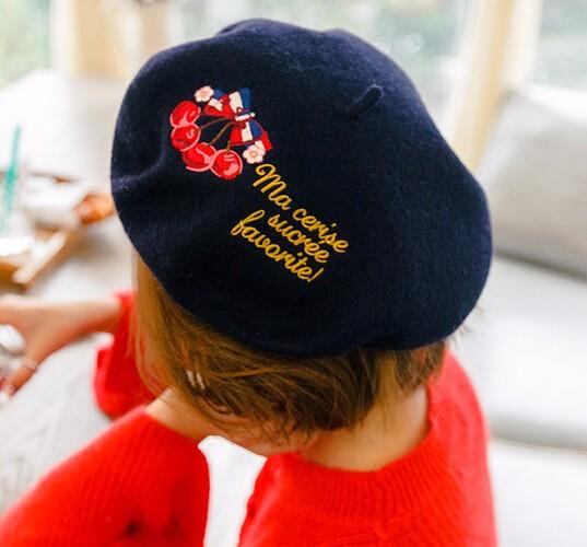 ☆2017AW新作☆ニット帽子 ベレー帽 ウール入れ クラシック 防寒 3色-1