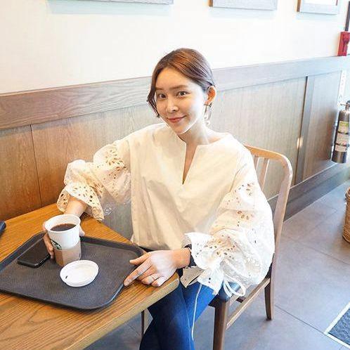 韓国ファッション ワイドスリーププルーオーバートップス