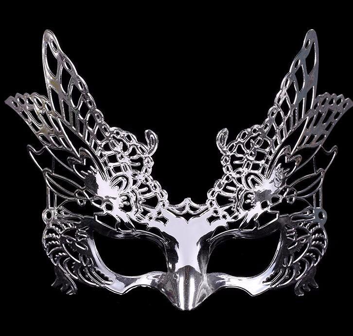 鷹式のマスク 鷹式仮面 ベニス服装仮面 演劇 ハロウィーンの仮面  仮面舞踏会(シルバー)
