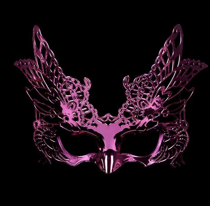 鷹式のマスク 鷹式仮面 ベニス服装仮面 演劇 ハロウィーンの仮面  仮面舞踏会(パープル)