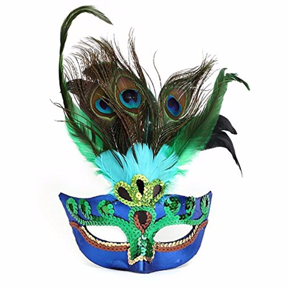 孔雀 羽毛仮面 ベニス服装仮面 ハロウィーンの仮面 仮面舞踏会