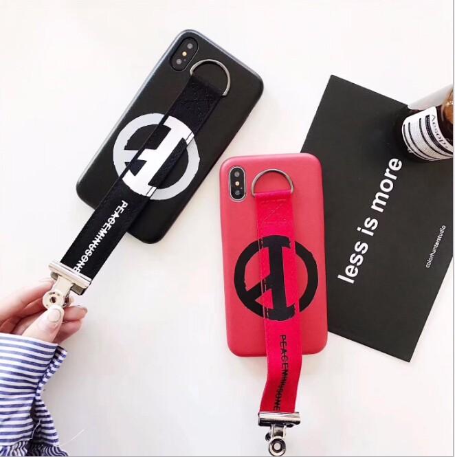 レディースファッション iphone iPhoneX iphone8 カバー アイフォンケース オシャレなロゴ付きケースカバー 2色