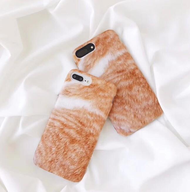 レディースファッション iphone アイフォン iPhoneX iphone8 ケース ケースカバー アイフォンケース ネコの毛風