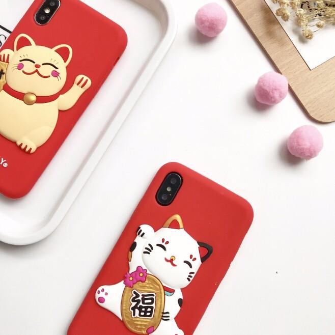 2017秋冬 レディースファッション iphone iPhoneX iphone8 カバー アイフォンケース ケースカバー 招き猫-1