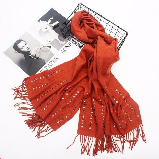 レディース ファッション ストール マフラー スカーフ 羊毛 スタッズ 5色-1