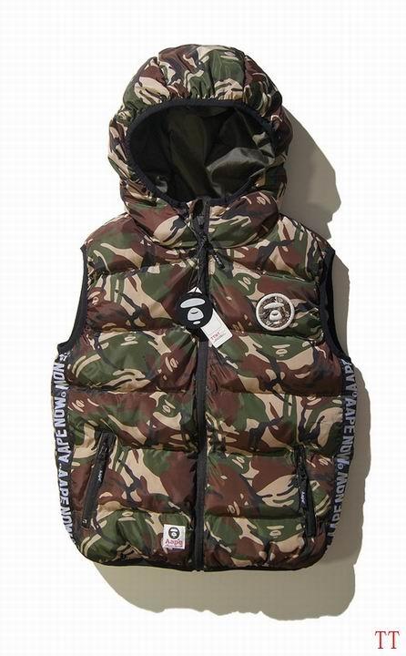 AAPE防寒服綿入れベストジャケット冬服保温コート迷彩防寒服上品上質特売