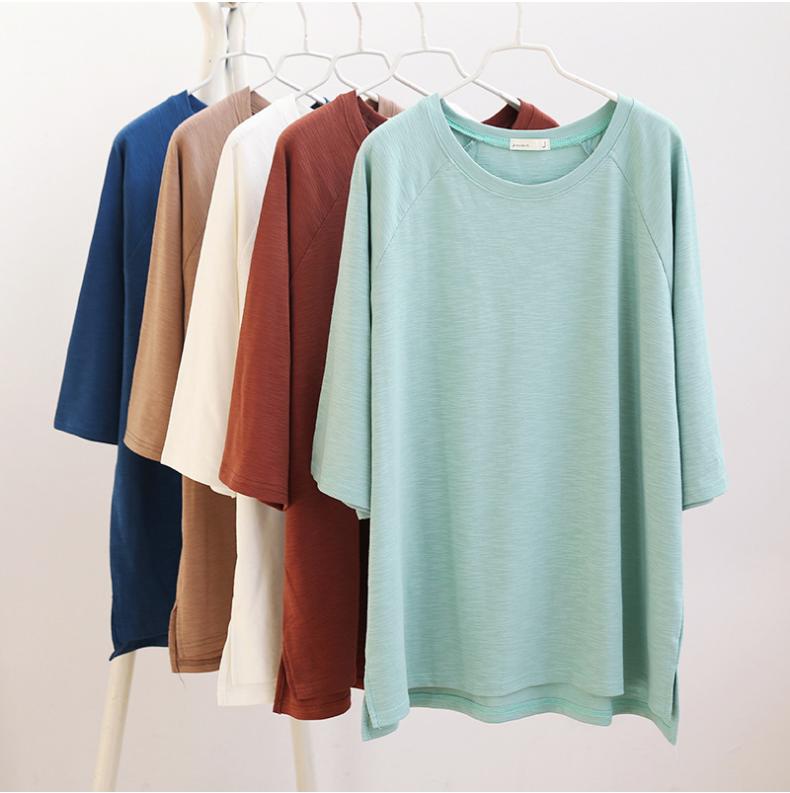 2018夏 純色・簡潔スタイル Tシャツ-1