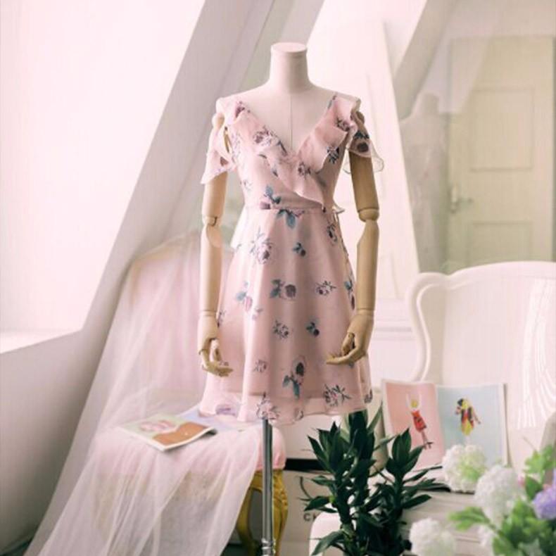 2018夏 花柄・ ワンピース・ホルタードレス