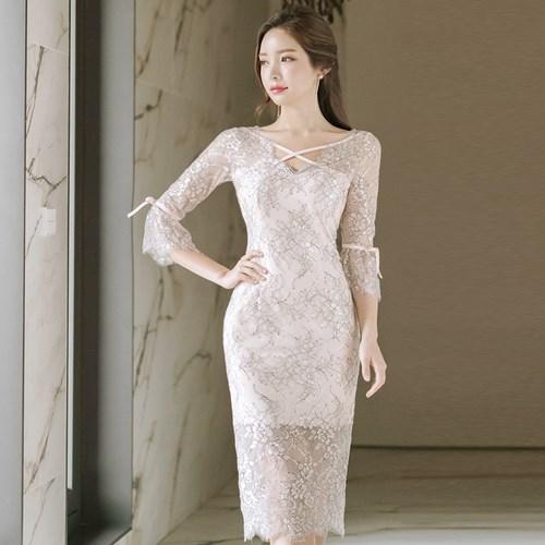 韓風スリムドレス/ワンピース OL通勤/パーディー
