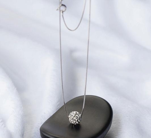 ボール ネックレスレディース ファッション ジュエリー プレゼント アクセサリー ペンダント 925シルバー