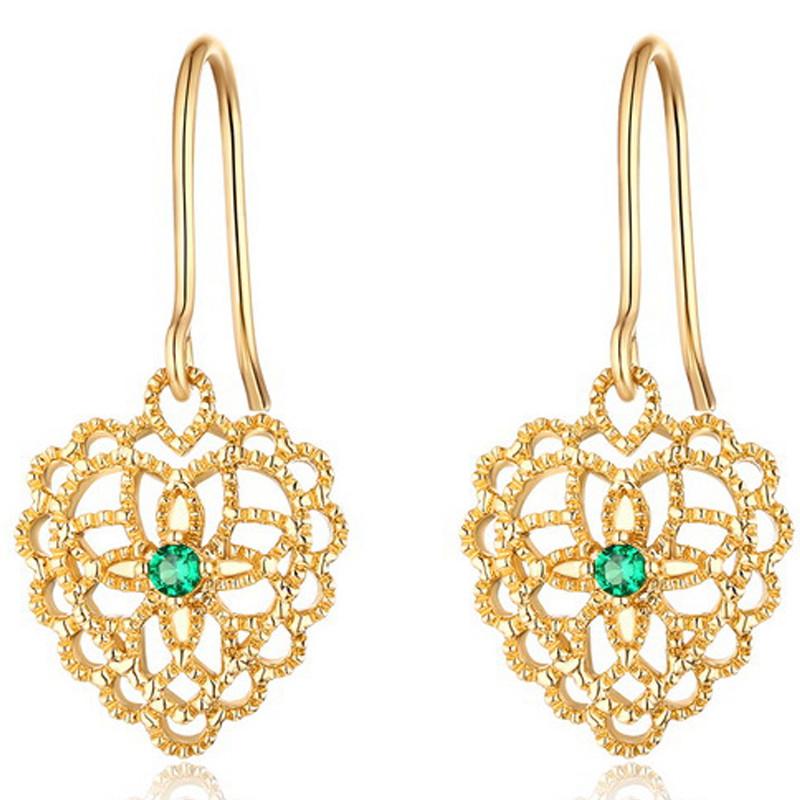 イエローゴールド 透かし ピアス レディース K9ゴールド ダイヤモンド クラシカル プレゼント 誕生日 アクセサリー