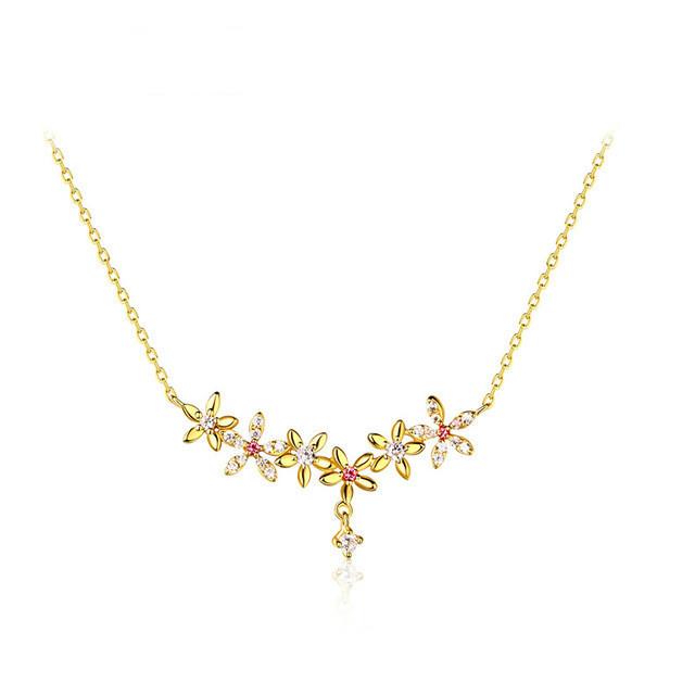 高品質 トルマリン 高品質 ネックレス チェーン イエロゴールド レディース ファッションジュエリー 結婚式 誕生日 プレゼント-1