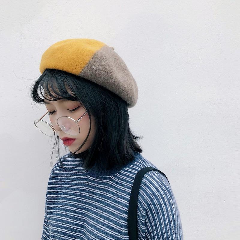 2018秋 ミックスカラーベレー帽-1