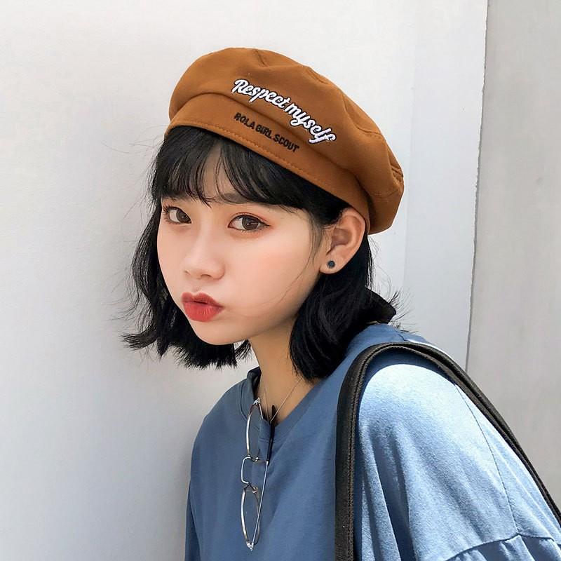 2018秋 蝶結び付き刺繍ベレー帽-1